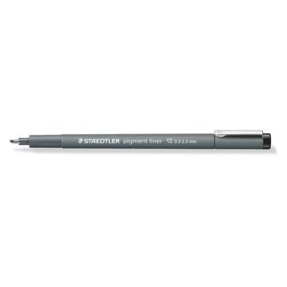 staedtler-pigment-liner-fineliner-beitelpunt-zwart-