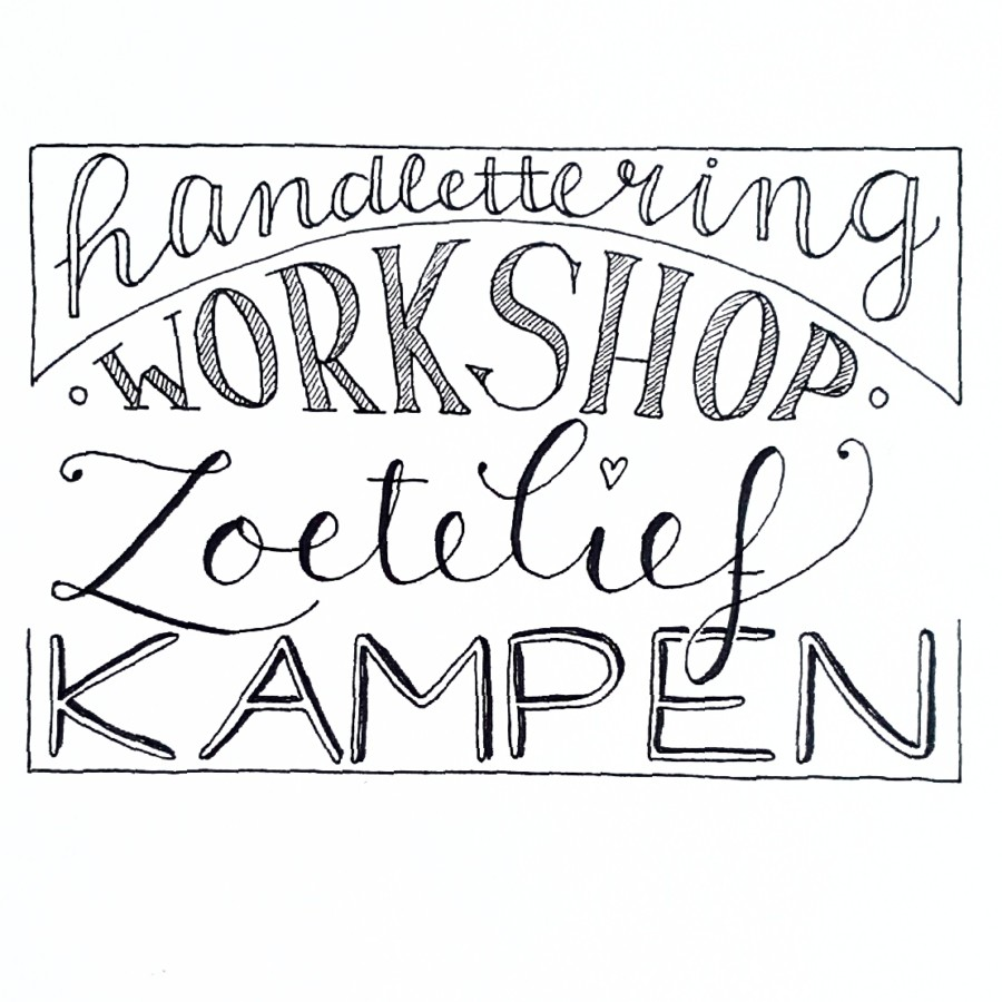 workshop handlettering kampen