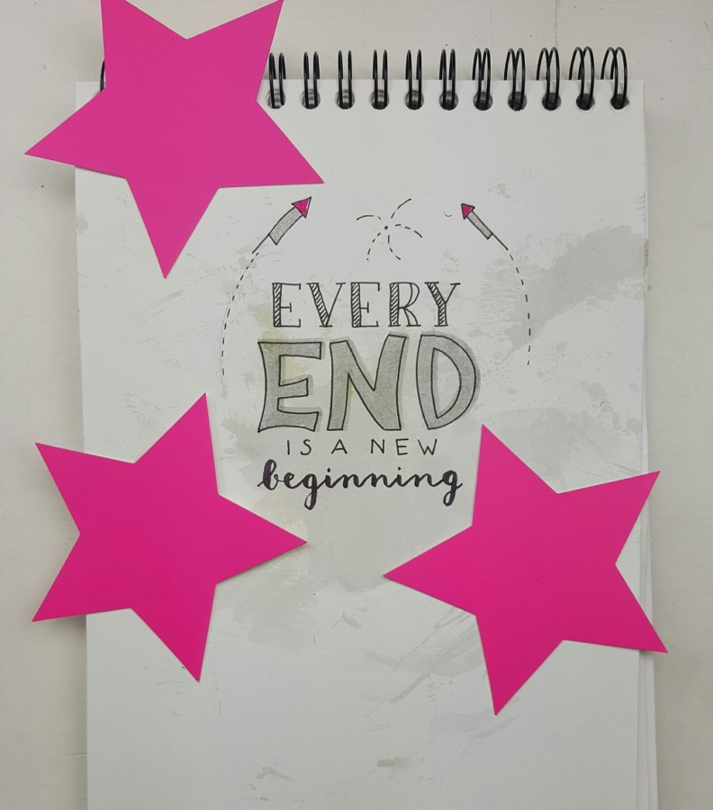 every end quote handlettering