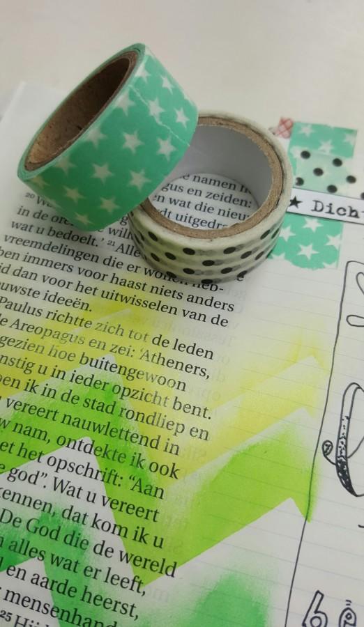 washi tape biblejournaling