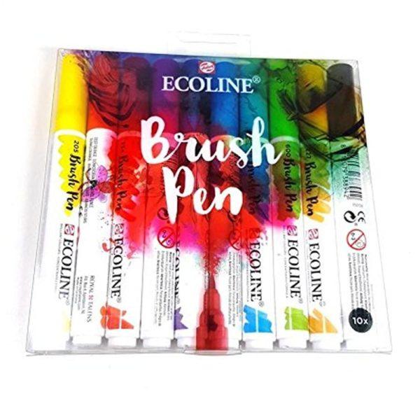 ecoline brush pennen