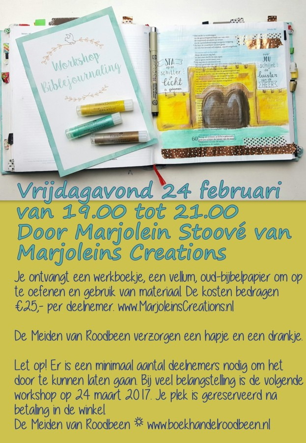 workshop biblejournaling nijkerk