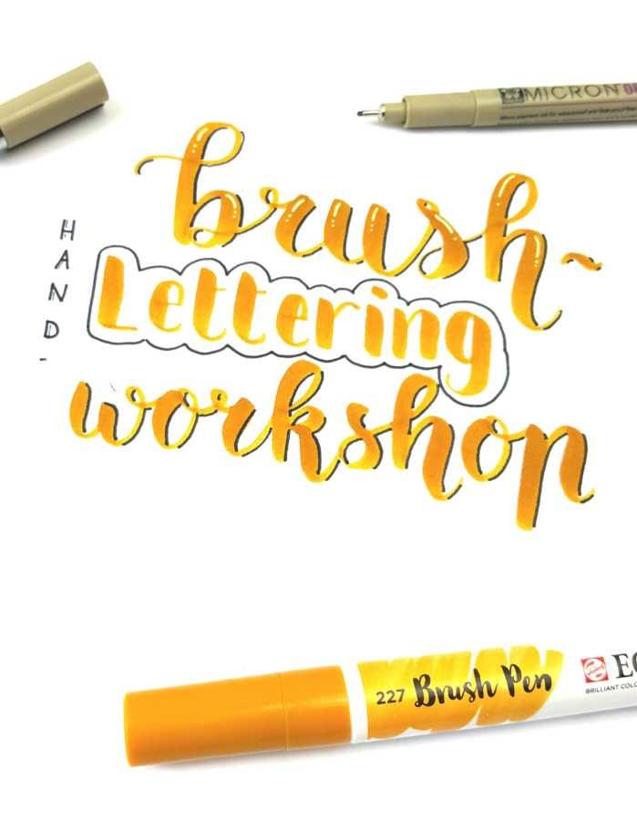 workshop brushlettering marjoleins creations