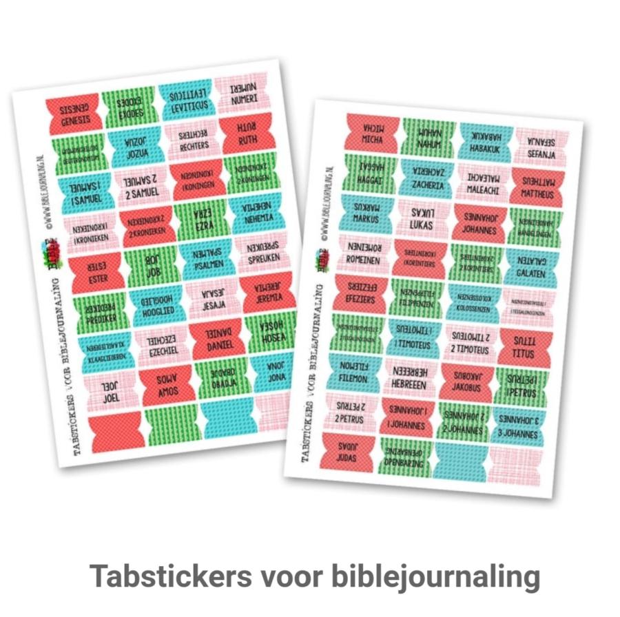 Bijbelboeken tabstickers