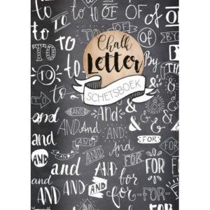 chalkletter schetsboek