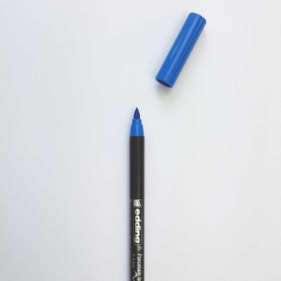 edding porseleinstift lichtblauw