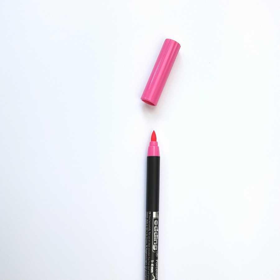 edding porseleinstift roze