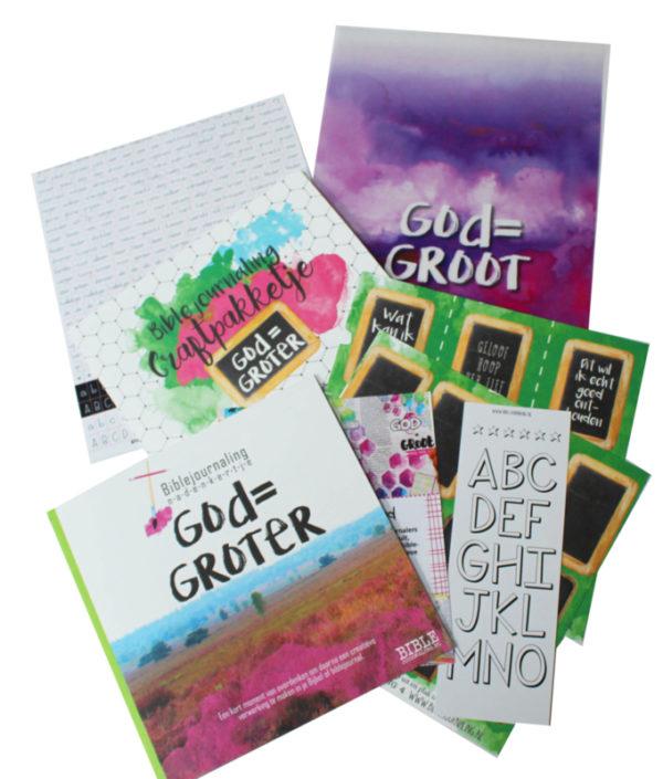 Craft pakketje biblejournaling god is groter