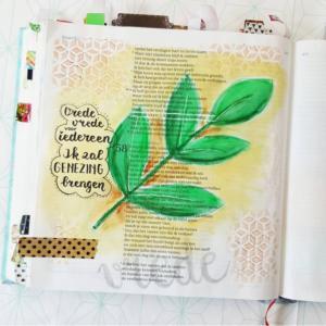 Biblejournaling blad Marjoleins Creations