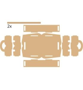 bouwpakket washi tape opbergbak