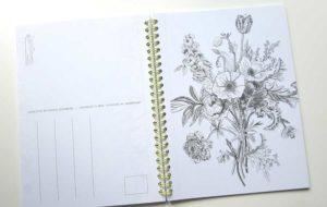 Botanisch kleurboek binnenkant