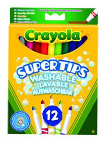 12 Crayola Supertips stiften