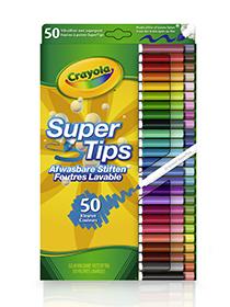 50 Crayola Viltstiften met Superpunt
