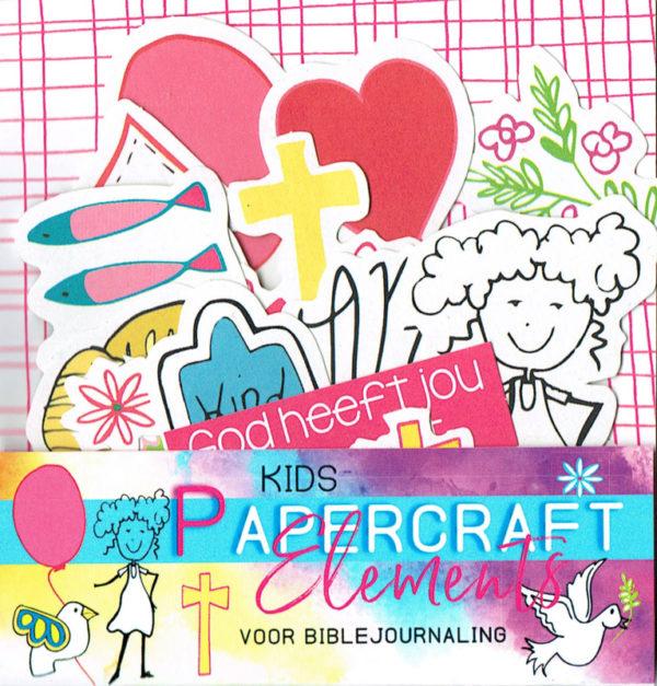 Papercraft element biblejournaling kinderen
