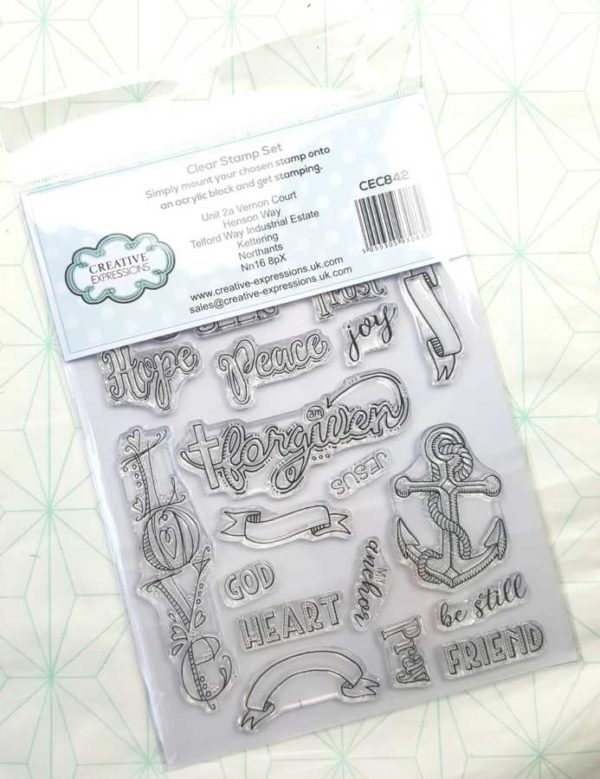 Clear stamps Creative Expressions inspiring words