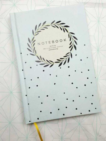 Notebook handlettering biblejournaling