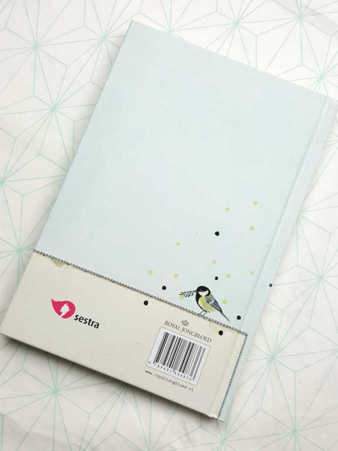 Notebook handlettering biblejournaling achterkant