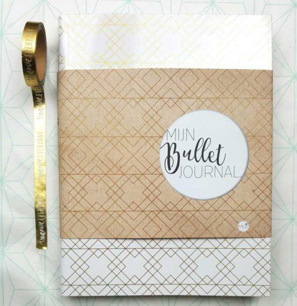 bullet journal goud wit mus