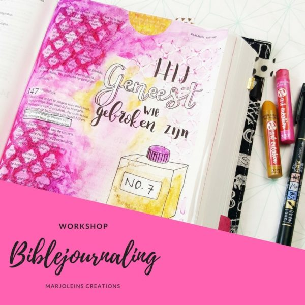 Workshop biblejournaling Marjoleins Creations