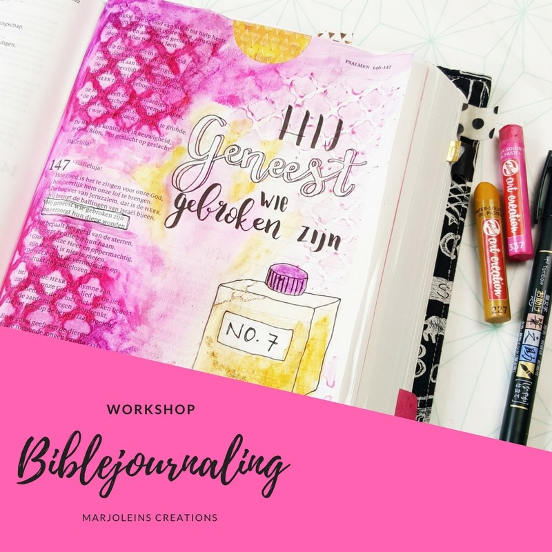Workshop biblejournaling Marjoleins Creations