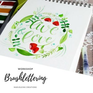 workshop brushlettering Marjoleins Creations