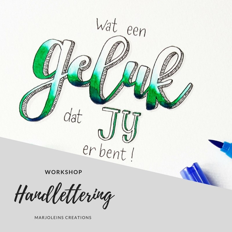 workshop handlettering Marjoleins Creations