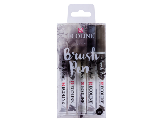 Ecoline brushpenset grijs