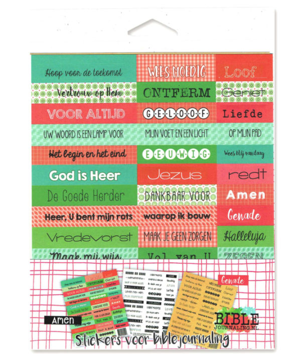 Stickerset biblejournaling 3 vellen
