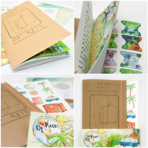 Biblejournaling craftpakketje Op reis binnenkant