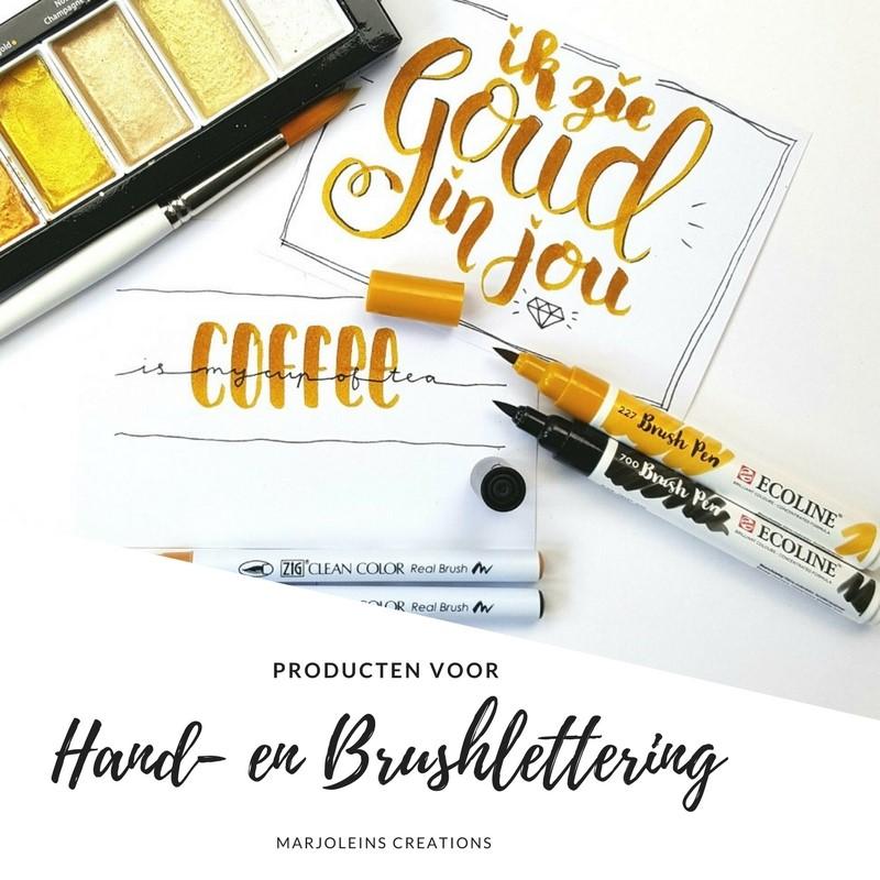 Handlettering en brushlettering producten