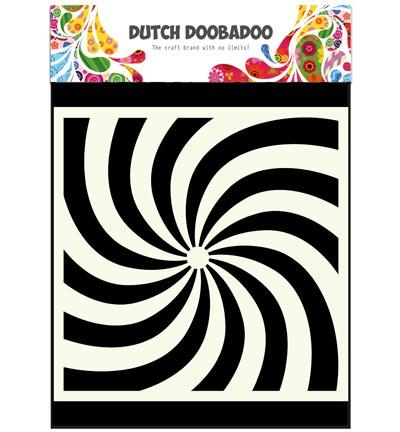 Mask art spiral stencil