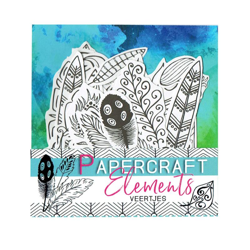 Papercraft element veertjes