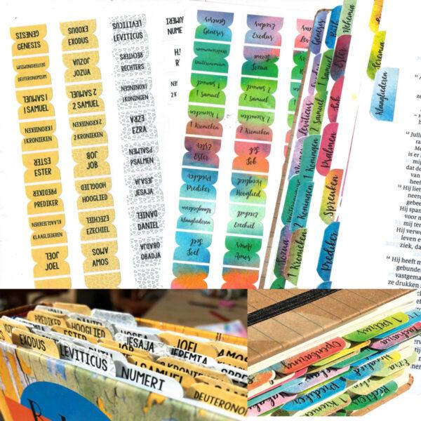 biblejournaling tabstickers voorbeeld 2