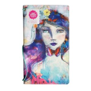 Butterfly book canvas Jane Davenport girl Travelersnotebook