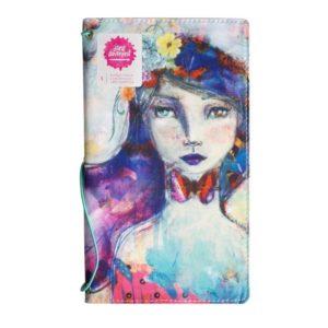 Butterfly book canvas Jane Davenport girl Travelersnotebook