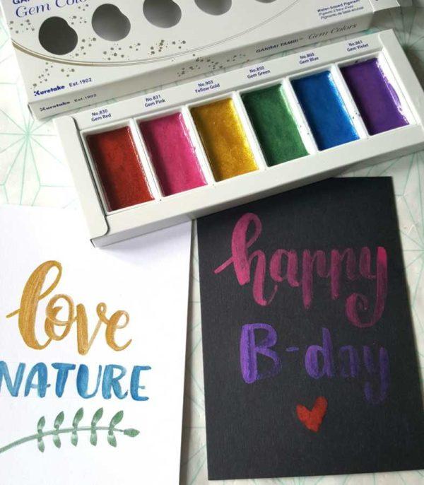Gansai Tambi Gem Colors voorbeeld