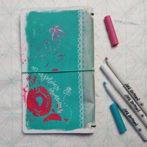 Jane Davenport butterfly journal achterkant Marjoleins Creations