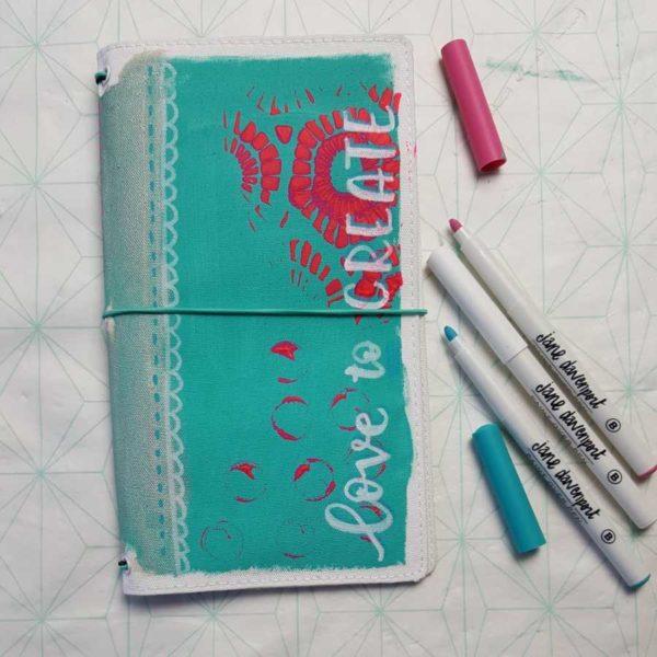 Jane Davenport butterfly journal voorkant marjoleins Creations