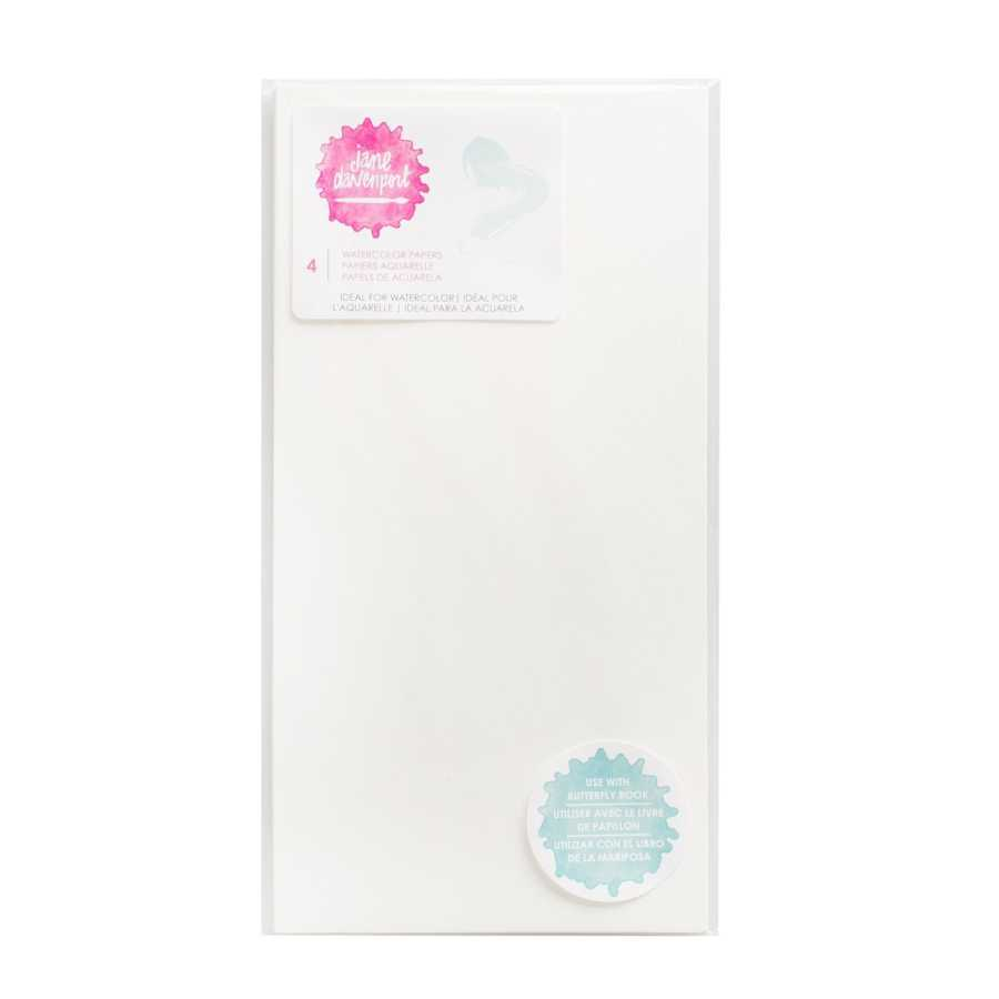 Jane Davenport watercolor paper insert butterfly book