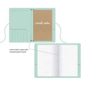 Travelers Notebook Kelly Creates Blauw binnenkant