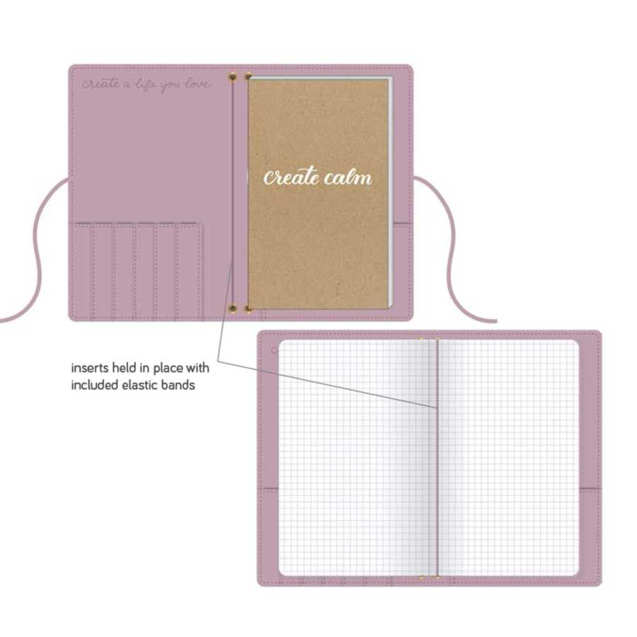 Travelers Notebook Kelly Creates Roze binnenkant