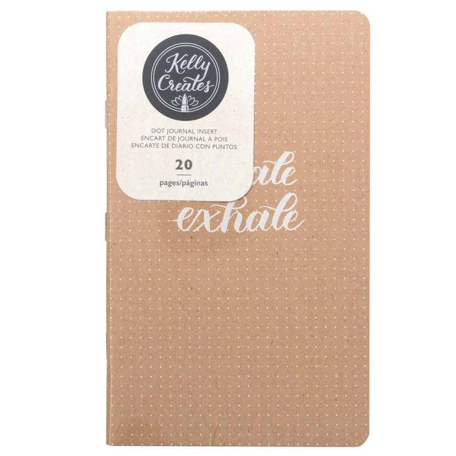 Travelers Notebook insert kraft dotted Kelly Creates