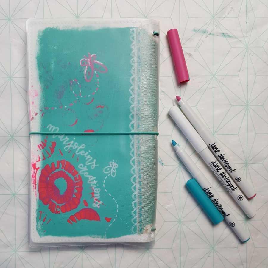 jane davenport marjoleins creations journal jacket achterkant