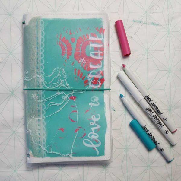 jane davenport marjoleins creations journal jacket voorkant
