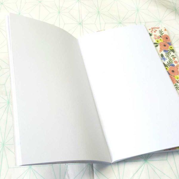 Travelers notebook Echopark blanco binnenkant