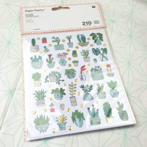 cactus stickers bulletjournaling