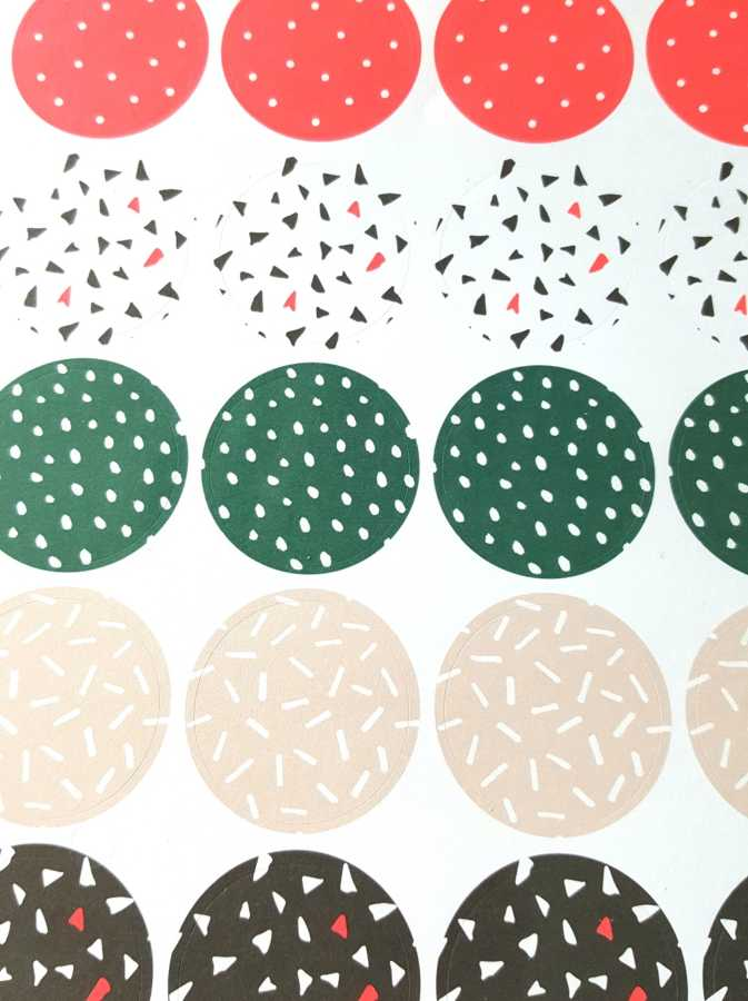 cactus stickers abstract