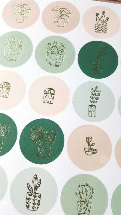 cactus stickers pastel