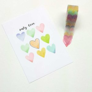washi flower stickers hartjes