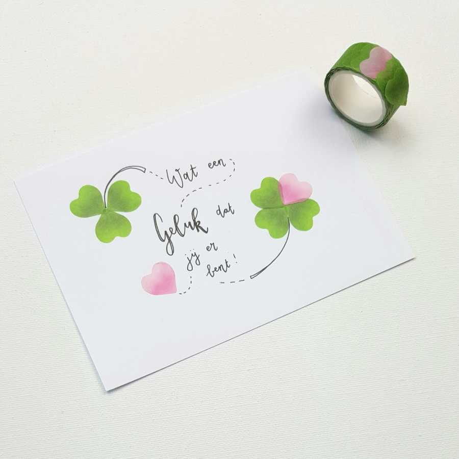 washi flower stickers klaver